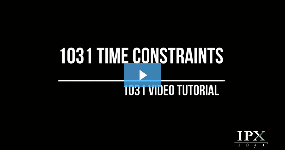 1031 Time Constraints video